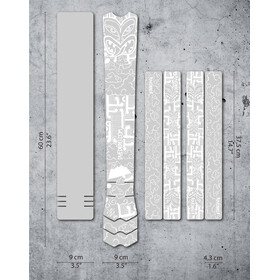 DYEDBRO Aotearoa Kit di Protezione del Telaio, trasparente/bianco